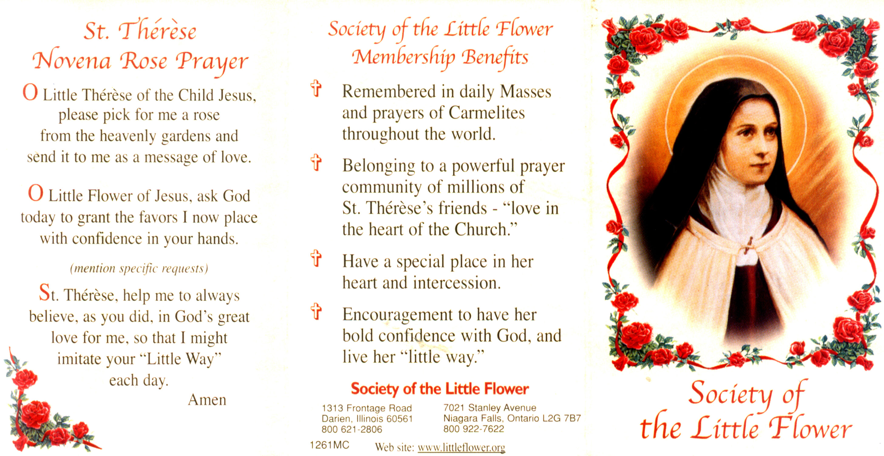 St therese miracle novena